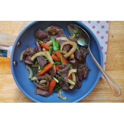 Bò xào củ hồi – Stir Fried Beef With Fennel